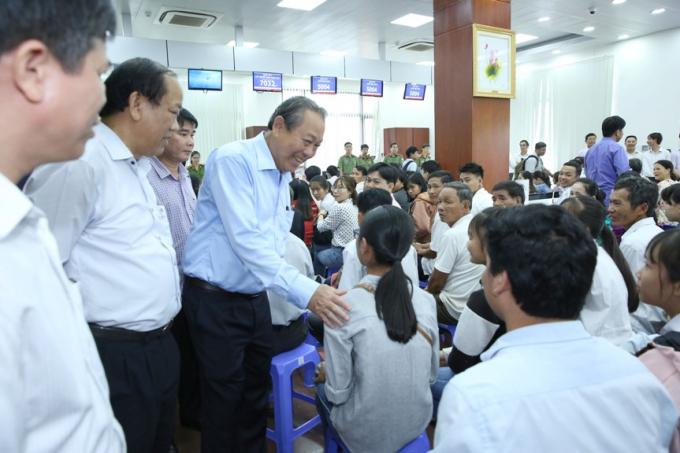 Phó thủ tướng Trương Hòa Bình làm việc với tỉnh Quảng Nam về công tác cải cách hành chính