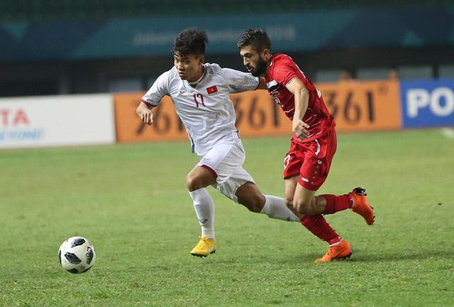 Tuyển Việt Nam trong trận gặp U23 Syria.