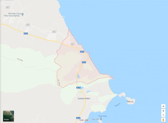 Xã Kỳ Nam, huyện Kỳ Anh, Hà Tĩnh. Ảnh GoogleMap.