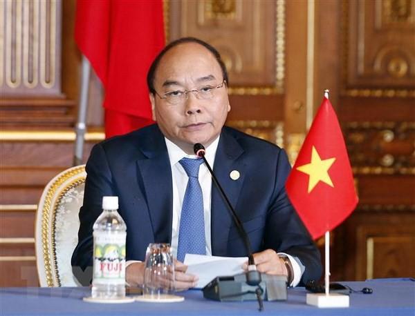 Thủ tướng Nguyễn Xuân Phúc tại Hội nghị cấp cao Mekong - Nhật Bản (ảnh: TTXVN)