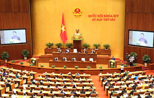 Kỳ họp thứ 6, Quốc hội khoá 14 thông qua Hiệp định CPTPP.Ảnh: Hoàng Phong