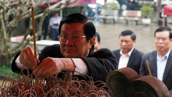 Nguyên Chủ tịch nước Trương Tấn Sang cùng lãnh đạo tỉnh Hà Giang đã đến dâng hoa, thắp hương tưởng niệm các anh hùng liệt sĩ trong cuộc chiến đấu bảo vệ biên giới phía Bắc