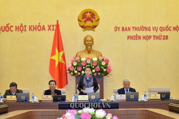 Phiên họp thứ 29 của Ủy ban Thường vụ Quốc hội