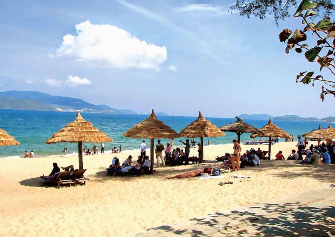 Bãi biển ở huyện đảo Cô Tô. Ảnh internet.