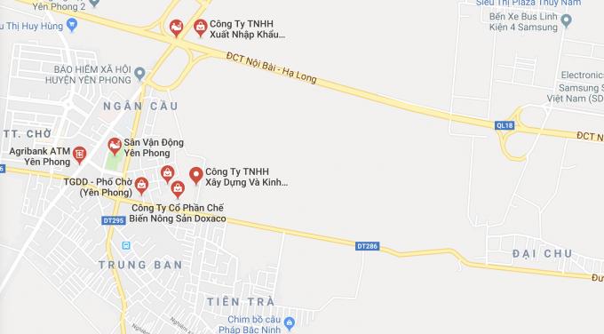 Công ty nông sản Doxaco có địa chỉ tại thôn Đông Yên, xã Đông Phong, Yên Phong, Bắc Ninh.