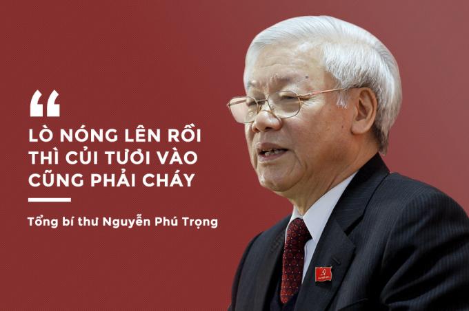 Trong nửa đầu nhiệm kỳ khóa XII, Tổng bí thư Nguyễn Phú Trọng đã ghi dấu ấn đậm nét trong cuộc chiến chống tham nhũng, xây dựng và chỉnh đốn Đảng.