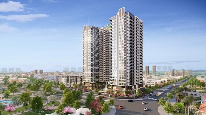 Chung cư Bình Minh Garden cao 25 tầng, hứa hẹn sẽ là điểm nhấn nổi bật nhất khu vực Đức Giang, Long Biên