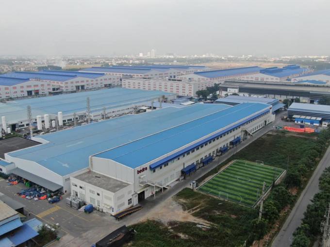 Công ty TNHH Bedra Việt Nam với quy mô lớn, được quây kín, những hoạt động bên trong rất khó phát hiện.