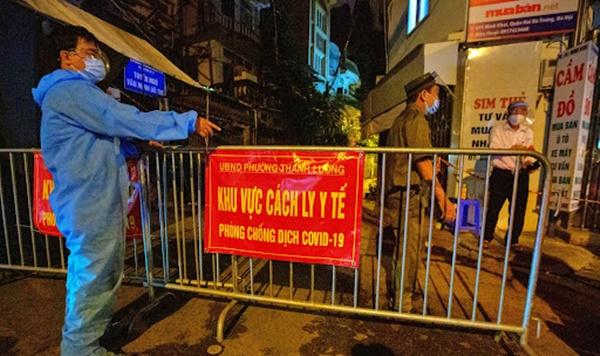 phong tỏa tạm thời khu vực ngõ 651 Minh Khai và một số điểm lân cận để thiết lập khu vực cách ly y tế