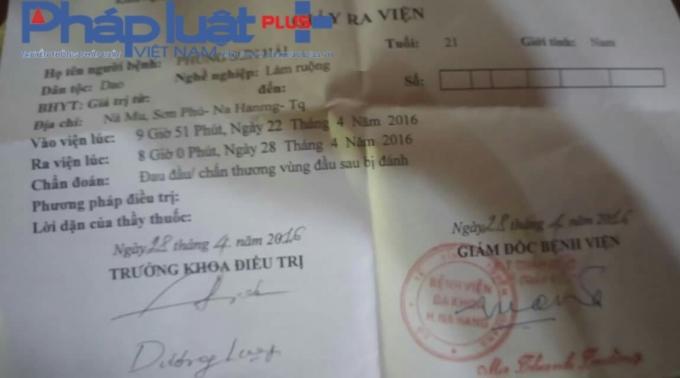 Anh Hải phải điều trị 1 tuần tại Bệnh viện Nà Hang.