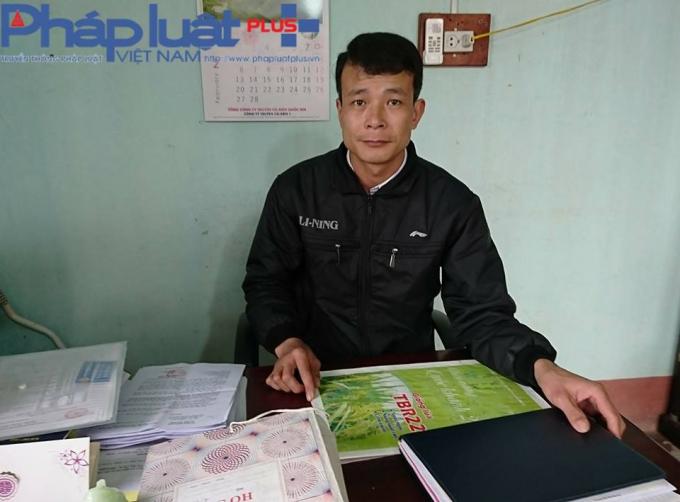 Ông Hà Xuân Tiệp - Chủ tịch UBND xã Tứ Quận (Ảnh: Tiến Vũ)