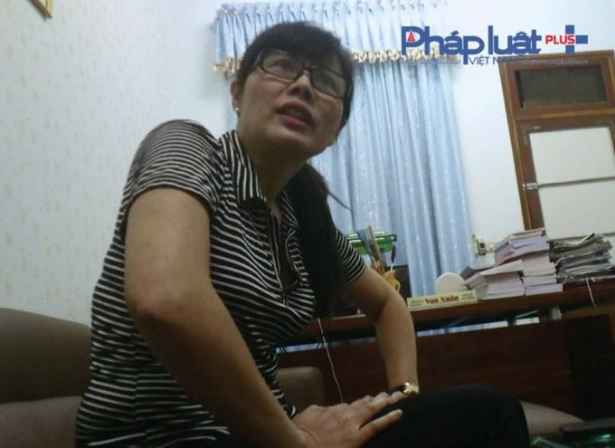 Bà Nguyễn Thị Linh Nhâm - Giám đốc Công ty quản lý đô thị, dịch vụ môi trường Tuyên Quang (Ảnh : Tiến Vũ)