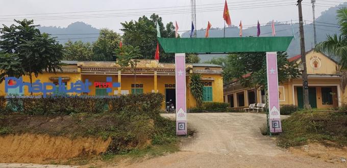 Trụ sở UBND xã Minh Dân - Nơi xảy ra vụ trộm cắp súng quân dụng (Ảnh: Tiến Vũ)