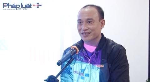 Nhà báo Phạm Quốc Cường phát biểu tại lễ ra mắt trang tin Nguoidep.vn và Nguoidepvn.com.vn