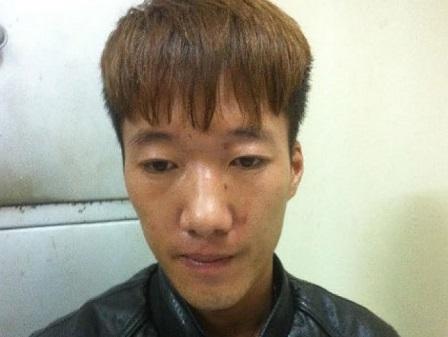 Đối tượngNguyễn Văn Mạnh tại cơ quan điều tra.