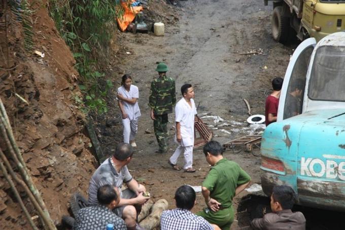 Khu vực xảy ra tai nạn sạp hầm lò.