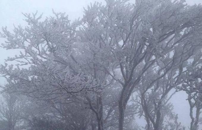 Nhiệt độ giảm sâu, băng tuyết xuất hiện tại Cao Bằng