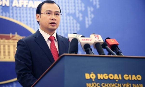 Người phát ngôn Bộ Ngoại giao Việt Nam Lê Hải Bình (Ảnh: Một thế giới).