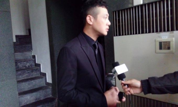 MC Anh Tuấn chia sẻ tại tang lễ của cac sỹ, nhạc sỹ Trần Lập.
