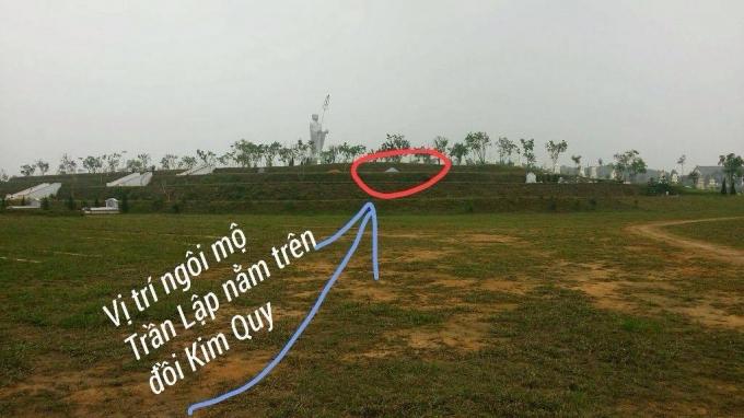 Theo Ban Quản lý công viên, vị trí an nghỉ của nhạc sĩ Trần Lập tại đồi Kim Quy.