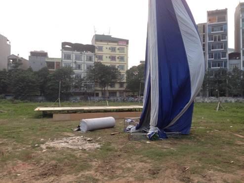 Hiện trường nơi xảy ra vụ án nạn nhân Nguyễn Đoàn Bộ bị chém trọng thương.