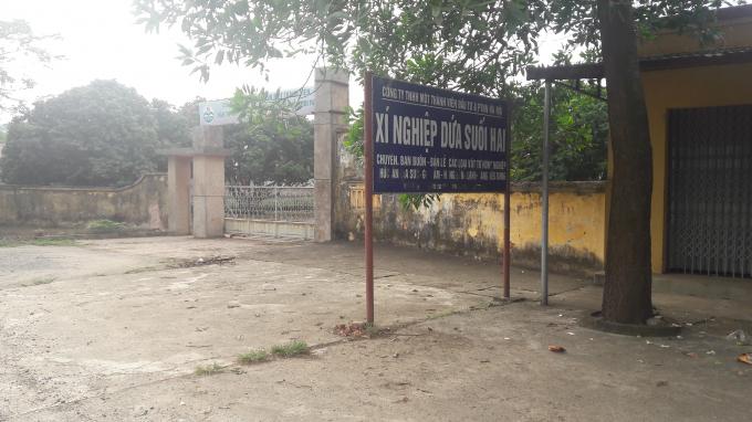 Trụ sở Xí nghiệp Dứa Suối Hai tại Tây Đằng, Ba Vì, Hà Nội.
