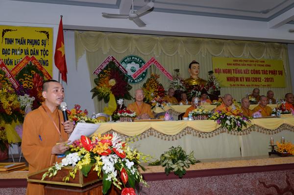 ĐĐ.Thích Quảng Tiến trình bản Nghị quyết Hội nghị