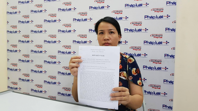 BàTrần Thị Thanh Hà gửi đơn kêu cứu tới tòa soạn Pháp luật Plus.