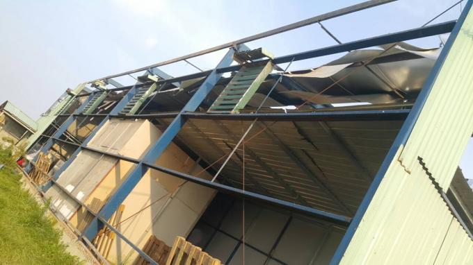 Công trình nhà xưởng của bà Trần Thị Thanh Hà được dựng lên sau khi kí hợp đồng thuê đất với bà Nguyễn Thị Kim Dung.