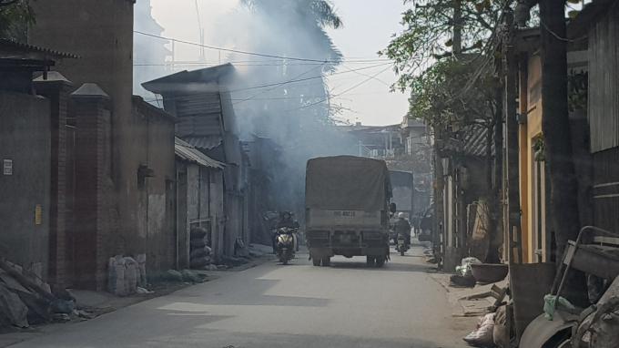 Làng Văn Môn ô nhiễm nặng nề.