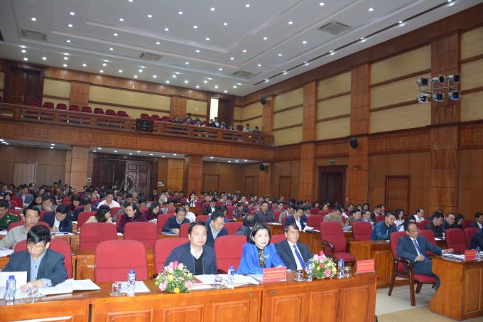 Hội nghị có sự tham dự củalãnh đạo UBND tỉnh, các Ủy viên UBND tỉnh cùng hơn 135 Doanh nghiệp.