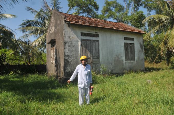 Một ngôi nhà khác của ông Hoa xây trên đất của mình còn được giữ lại.