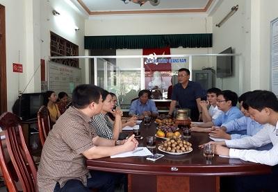 Ông Lê Hồng Sơn - Chi cục trưởng Chi cục ATVSTP Thanh Hóa phát biểu chỉ đạo tại cuộc kiểm tra.