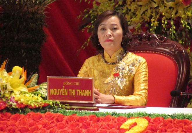 Bà Nguyễn Thị Thanh - Bí thư Tỉnh uỷ Ninh Bình tại ĐH lần thứ XXI (Ảnh: Báo dân sinh).