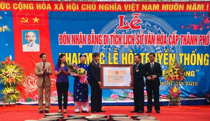 Lễ đón nhận Bằng di tích lịch sử văn hóa cấp thành phố được diễn ra long trọng nhân dịp đầu xuân.