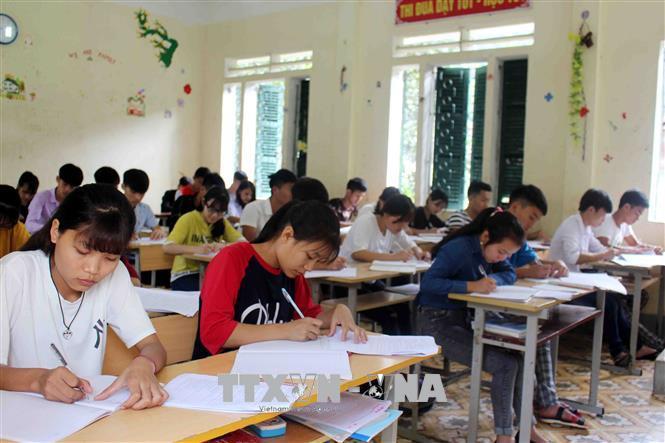 Bộ Giáo dục và Đào tạo đã công bố lịch thi Trung học phổ thông quốc gia năm 2019. Ảnh minh họa Công Tuyên TTXVN
