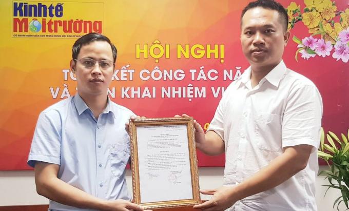Nhà báo Nguyễn Văn Minh được bổ nhiệm giữ chức Tổng Thư ký Toà soạn tạp chí Kinh tế Môi trường.