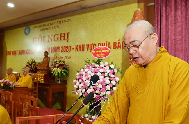 Hoà thượng Thích Thanh Nhiễu - Phó Chủ tịch Thường trực Hội đồng Trị sự (HĐTS) GHPGVN.