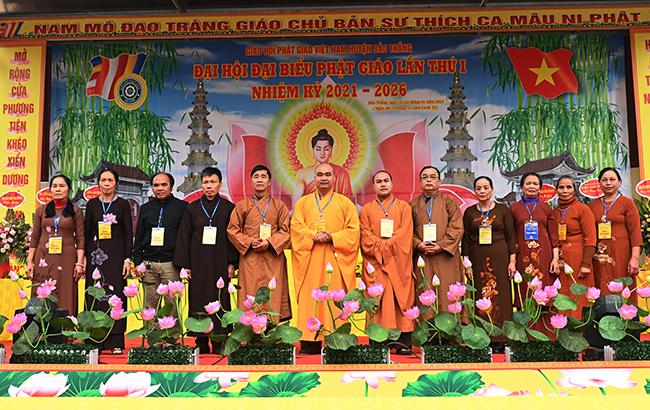 Tân BTS GHPGVN huyện Bảo Thắng ra mắt trước Đại hội.
