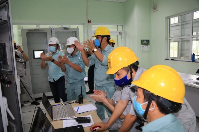 Khoảnh khắc Tổ máy H5 Đa Nhim hòa lưới thành công với công suất 80MW.