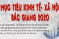 Infographic: Mục tiêu kinh tế - xã hội Bắc Giang 2020
