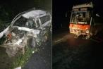 Ít nhất 2 người tử vong sau tình huống đấu đầu giữa xe con và xe khách