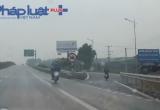 Cao tốc Bắc Giang - Hà Nội: CSGT 'đứng', xe máy vẫn vô tư chạy