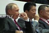 Tổng thống Putin cùng Thủ tướng Nhật Bản xem thi đấu judo