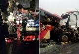 Yên Bái: Xe khách giường nằm đấu đầu xe tải, 8 người bị thương