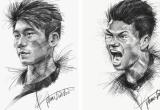 Trọn bộ tranh ký họa dàn cầu thủ 'cực phẩm' U23 Việt Nam