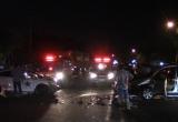 Bình Dương: Hai ô tô hư hỏng nặng sau va chạm, 3 người bị thương