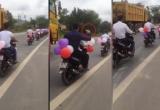 Clip: Đoàn rước dâu bằng xe máy, liệu có đẹp?