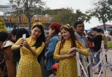 Người dân và du khách Đà Nẵng vui xuân trên đường hoa Tết Kỷ Hợi