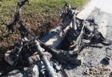 TP HCM: Người phụ nữ hốt hoảng bỏ chạy vì xe máy bất ngờ bốc cháy